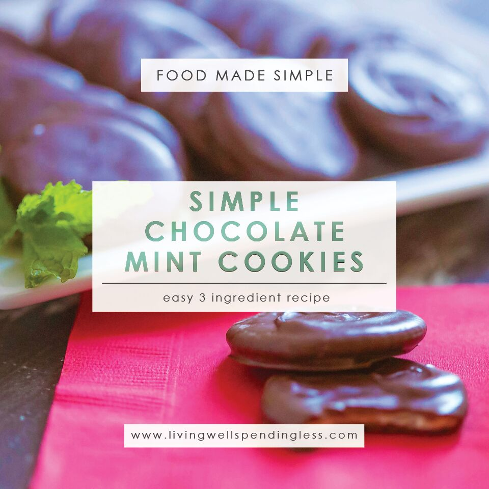 Simple Chocolate Mint Cookies | 5 Ingredients or Less | Dessert | Food Made Simple | Holiday Treats