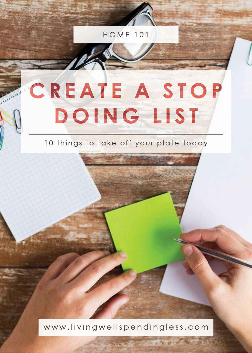Create a Stop Doing List | Time Management | Home Management Management | Managing Priorities