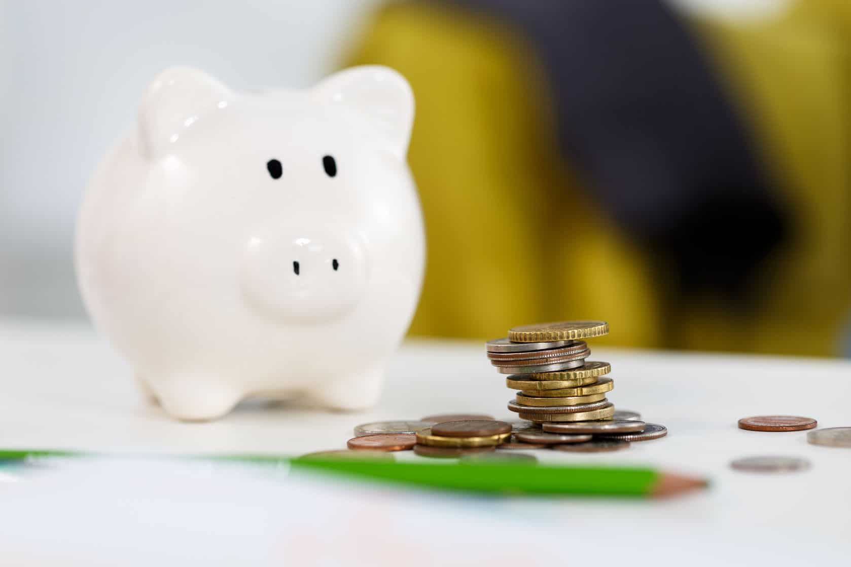 Help kids learn to put some coins in their piggy bank and start a savings habit young.