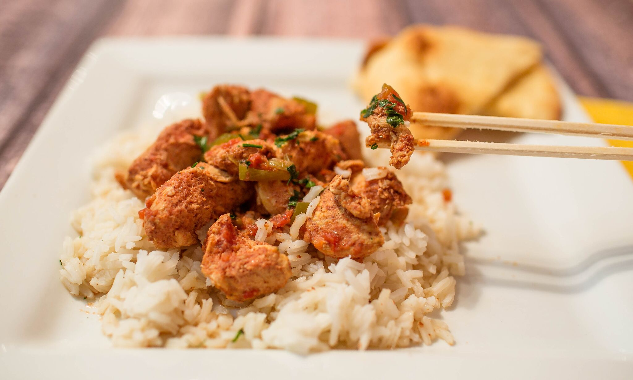Serve this easy chicken curry over white rice for an easy freezer to crockpot weeknight meal.