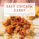 Easy Chicken Curry | Freezer Friendly Chicken Recipe| Curry Chicken Recipe | Food Made Simple