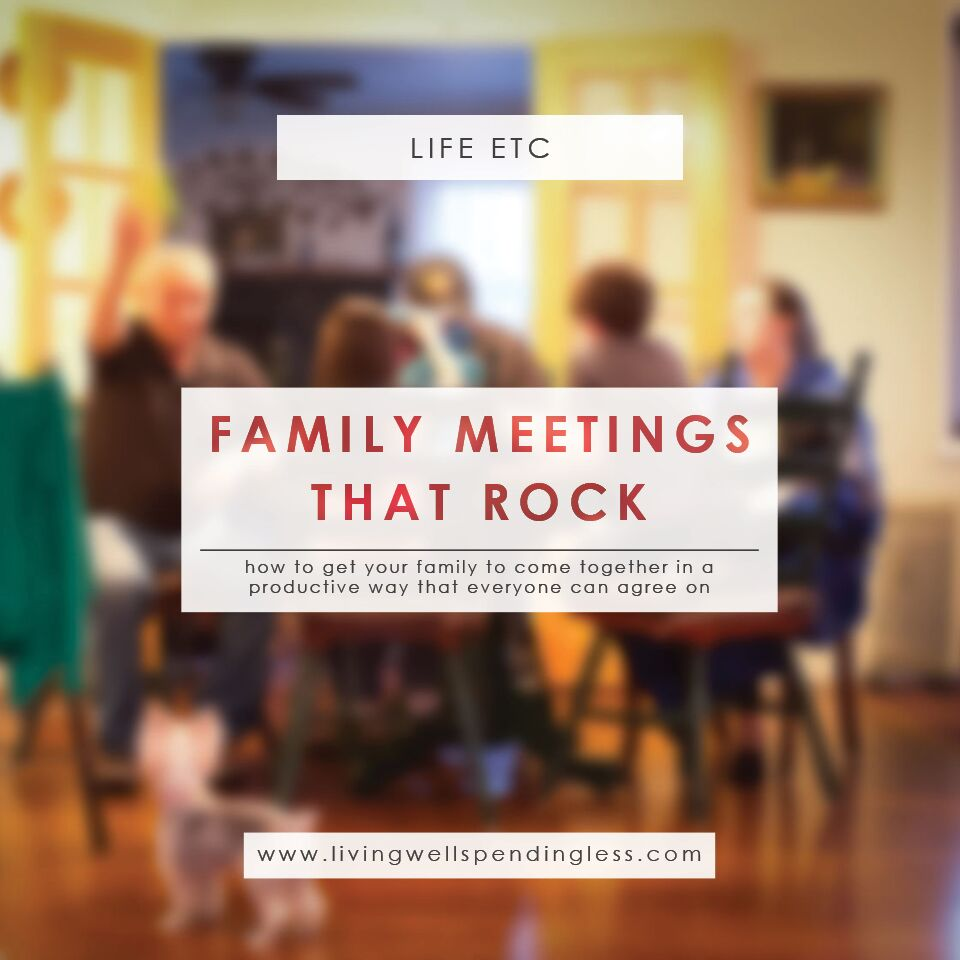 Get your family to come together in a productive way with these guidelines to have family meetings that rock!