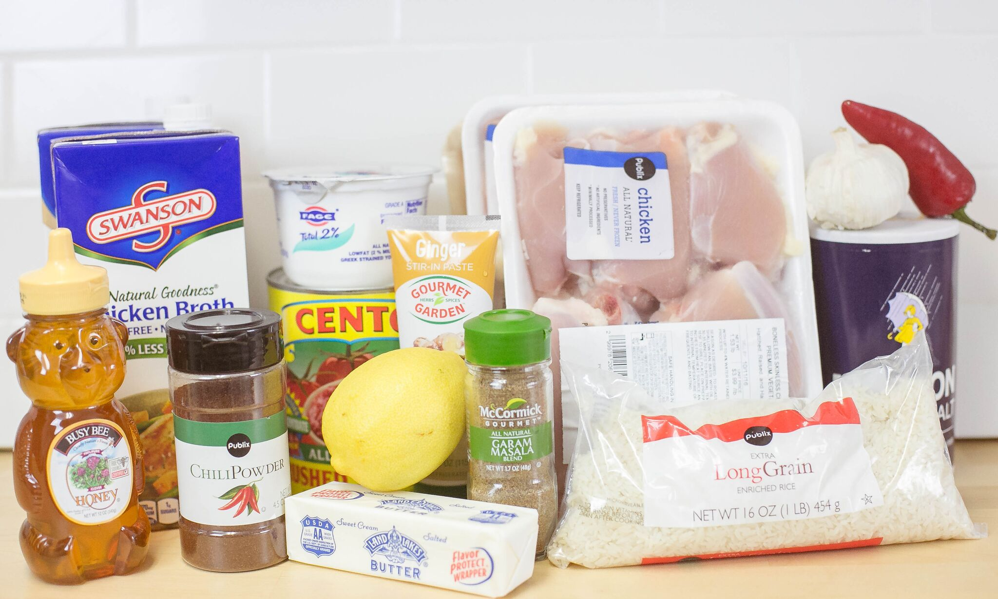 Easy Chicken Curry ingredients