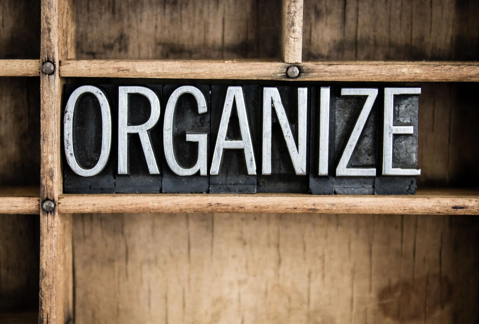 Become a Weekend Warrior by tackling an organizing project.