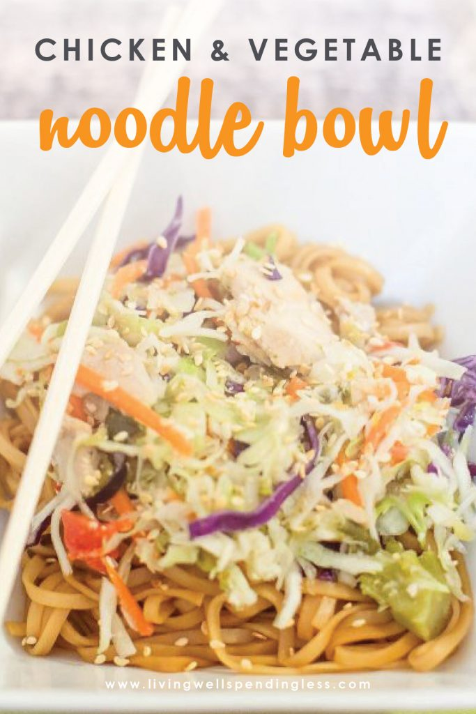 Craving fresh flavor, but feeling short on time? This ridiculously delicious chicken & vegetable noodle bowl goes straight from the freezer to the crockpot for a satisfying dinner your family will love.