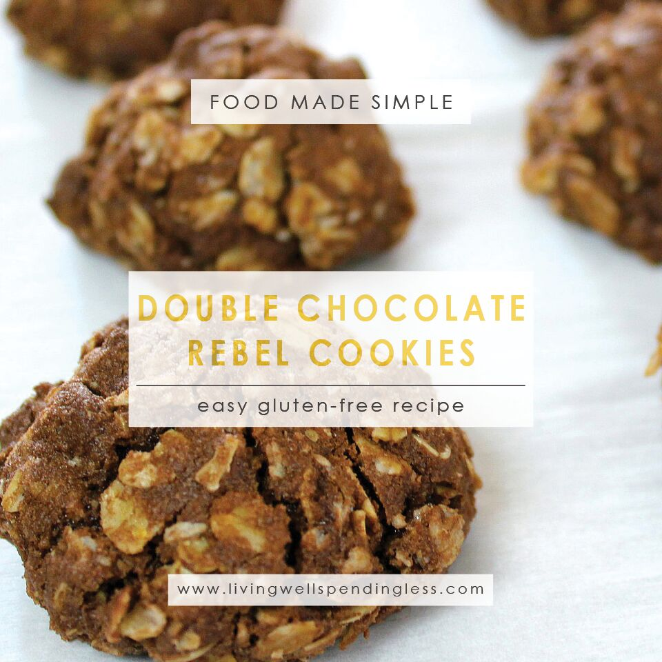 Gluten Free Cookies   Double Chocolate Rebel Cookies   Easy Cookie Recipe   Chocolate Cookies   Valentine's Day Desserts