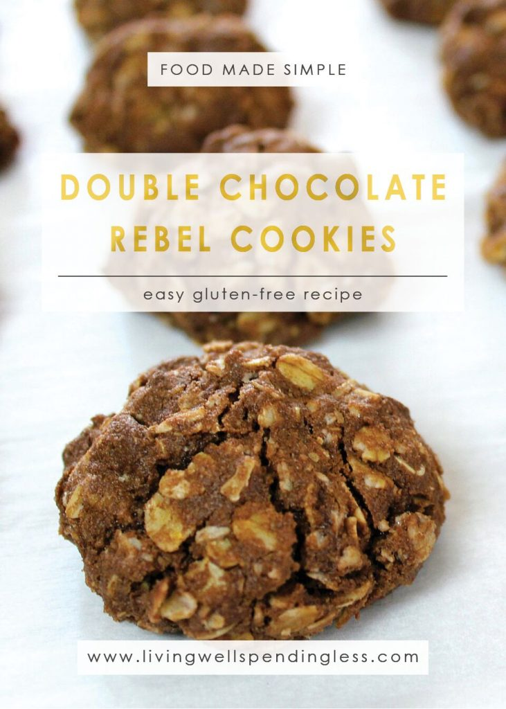 Double Chocolate Rebel Cookies