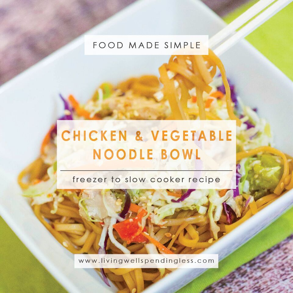 Chicken & Vegetable Noodle Bowl | Freezer Friendly Meals | Easy Chicken Recipes | Fast & Simple Chicken Dinner
