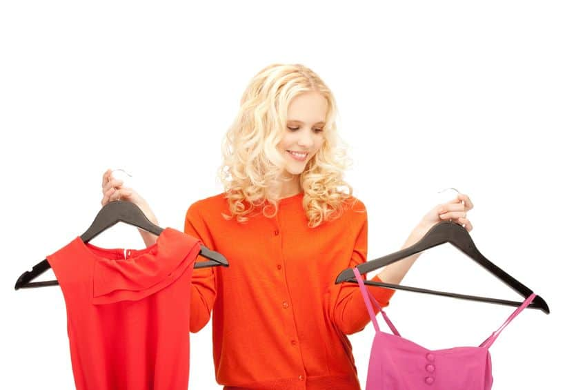 Too many options? Only save the clothes you know you'll wear, rather than keeping clothes that will sit in your closet unworn.