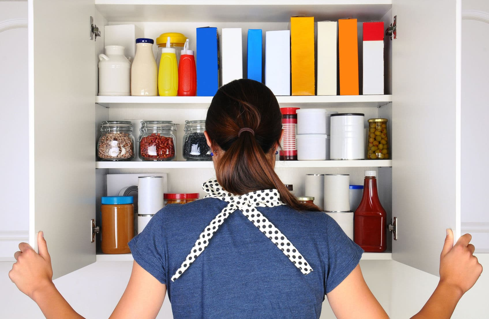 Organize your pantry to avoid buying the same items over and over.
