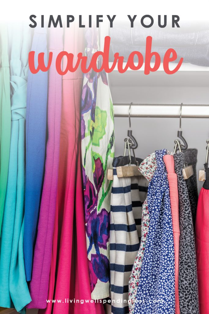 Ever feel like you have nothing to wear? Believe it or not, simplifying your wardrobe makes getting ready in the morning a breeze, and can actually make your closet seem much bigger! Use these 7 genius tricks to pair down your wardrobe and declutter your closet in the process!