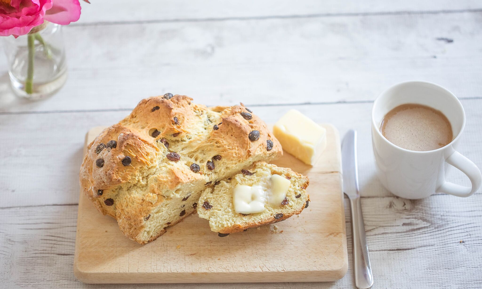 This easy Irish soda bread is absolutely delicious with a pat of butter and a cup of coffee.