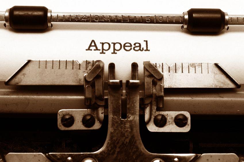 Typewritten appeal