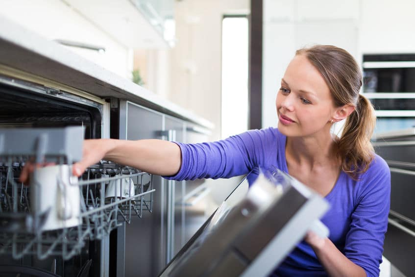 Empty dishwashers to keep your kitchen clean.