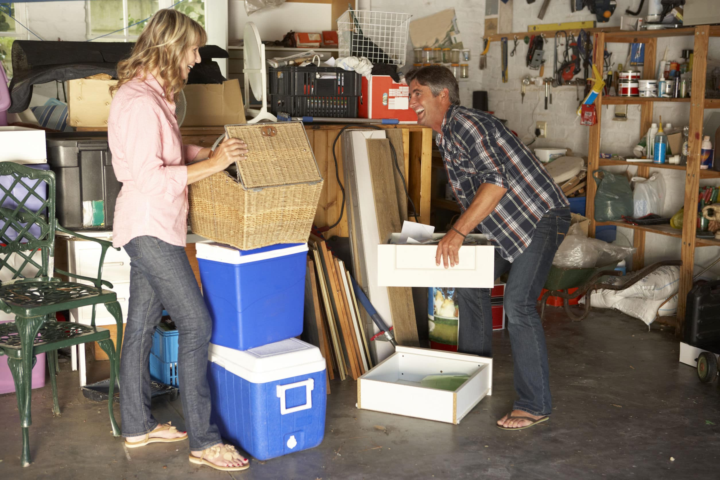 Cleaning out your garage is a great way to declutter.