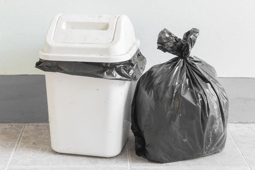 Frequently take out the trash to keep a clean kitchen.