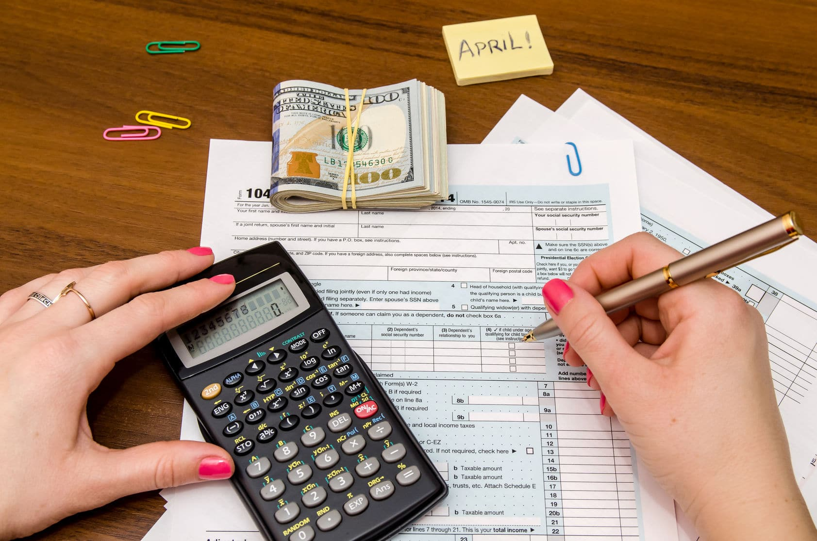 Prep for tax time by filling out your documents.