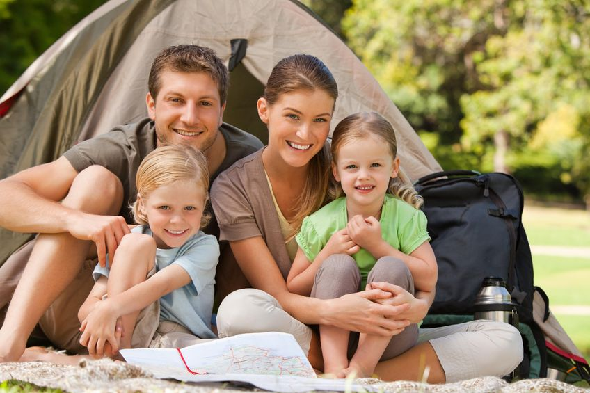 Camping can get pricey, but if you get creative it can be a  fun budget-friendly family activity!