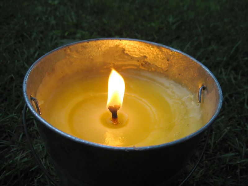 Burning citronella candles in your yard will help keep bugs away during your party.