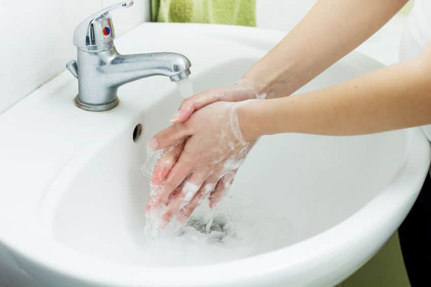 Washing your hands is the first step in avoiding food borne illness