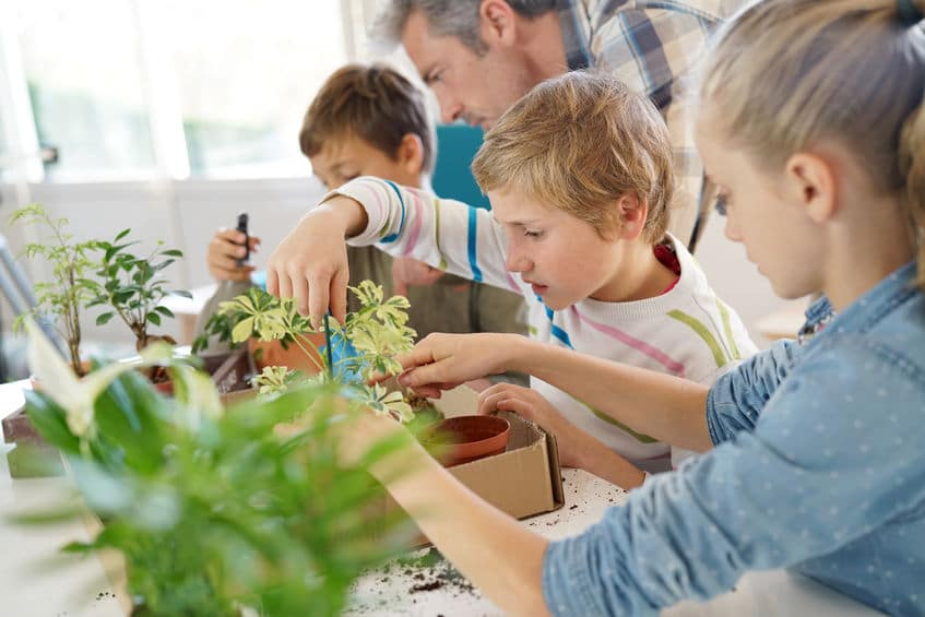 Thinking up some fun at home activities like planting flowers is a great way to stay busy during the summer.
