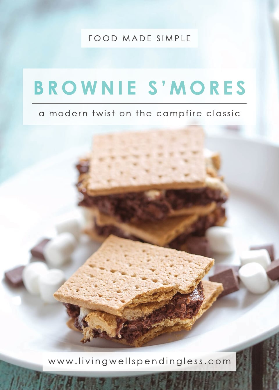 Brownie S'mores | Double Chocolate Brownies | Brownie S'more Recipe | A Modern Twist on the Campfire Classic
