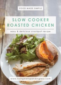 Slow cooker roasted Chicken   Easy Chicken Recipe   Chicken Meal   Herb Chicken   Meal Planning   Main Course Menu   Food Made Simple