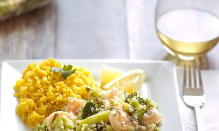 Simple Shrimp & Broccoli Bake