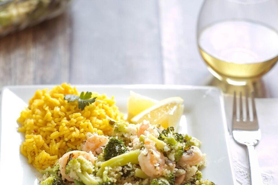 Simple Shrimp & Broccoli Bake