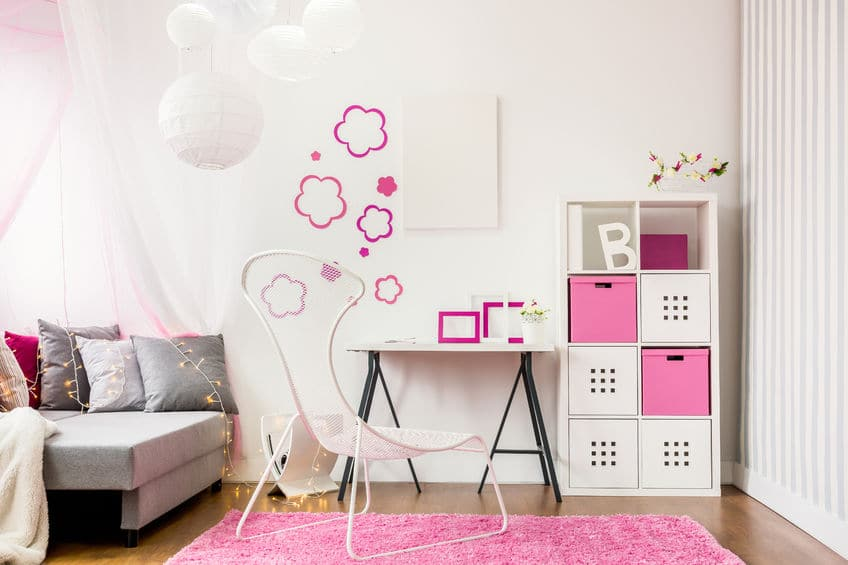 Wall accents, lamp shades and cool furniture add personal flair to your child's room.