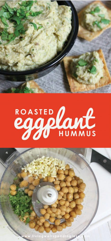 Craving a taste of the Mediterranean? This Roasted Eggplant Hummus is absolutely delicious and super easy to make (not to mention packed with healthy protein!) With just 6 ingredients and in about an hour you have a tasty side dish or appetizer that everyone will love!