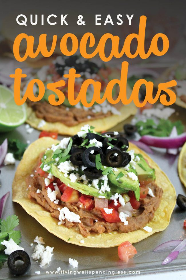 Whether you are making dinner for yourself or a crowd, these delicious, quick, and easy Avocado Tostadas are sure to impress! Perfect simple weeknight meal!