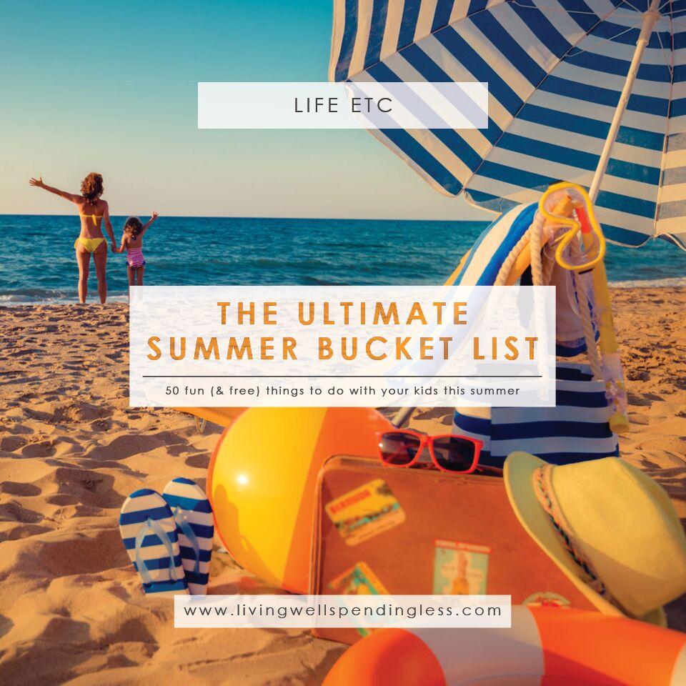 Summer Bucket List | Family-Friendly Fun | Budget Summer Fun Ideas | Kid Friendly Summer Fun
