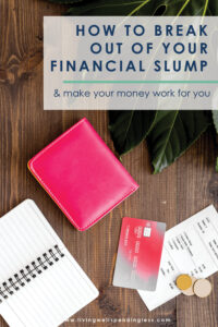 Feeling like you've hit the wall when it comes to your finances? You are definitely not alone! The good news is that you don't have to stay stuck a financial slump forever--there is a way out! If you are feeling overwhelmed and not sure how to break free, don't miss these 10 smart tips to help you get back on your feet and moving forward once again. #finance #money #moneytips #budgeting #budgettips