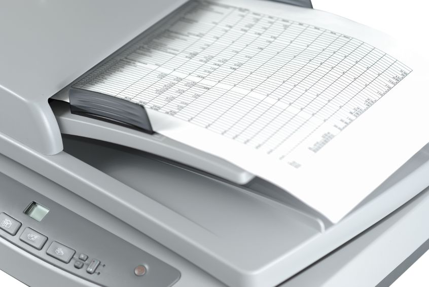 Use a scanner to help with organization.