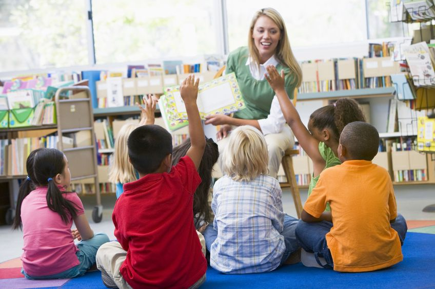 Volunteering your time to read books to your child's class is a helpful way to show support for teachers.