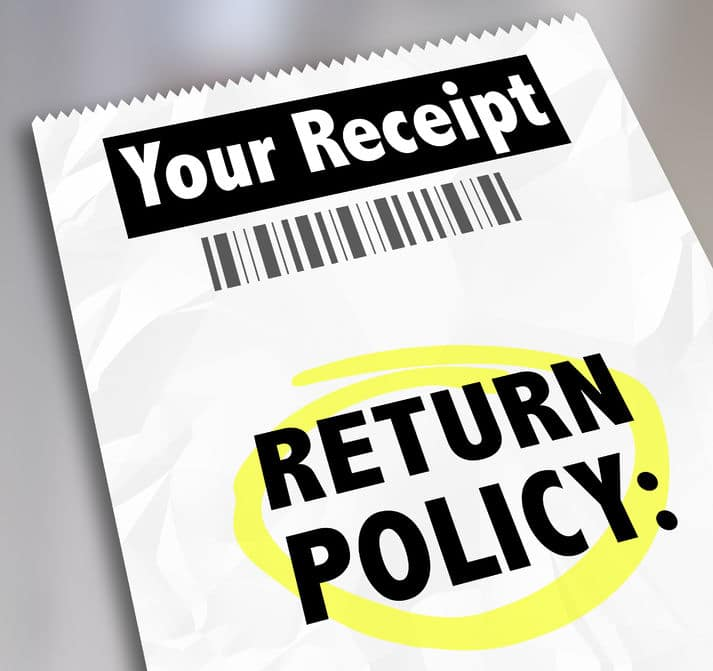 Make returns when you don't need something to save money.