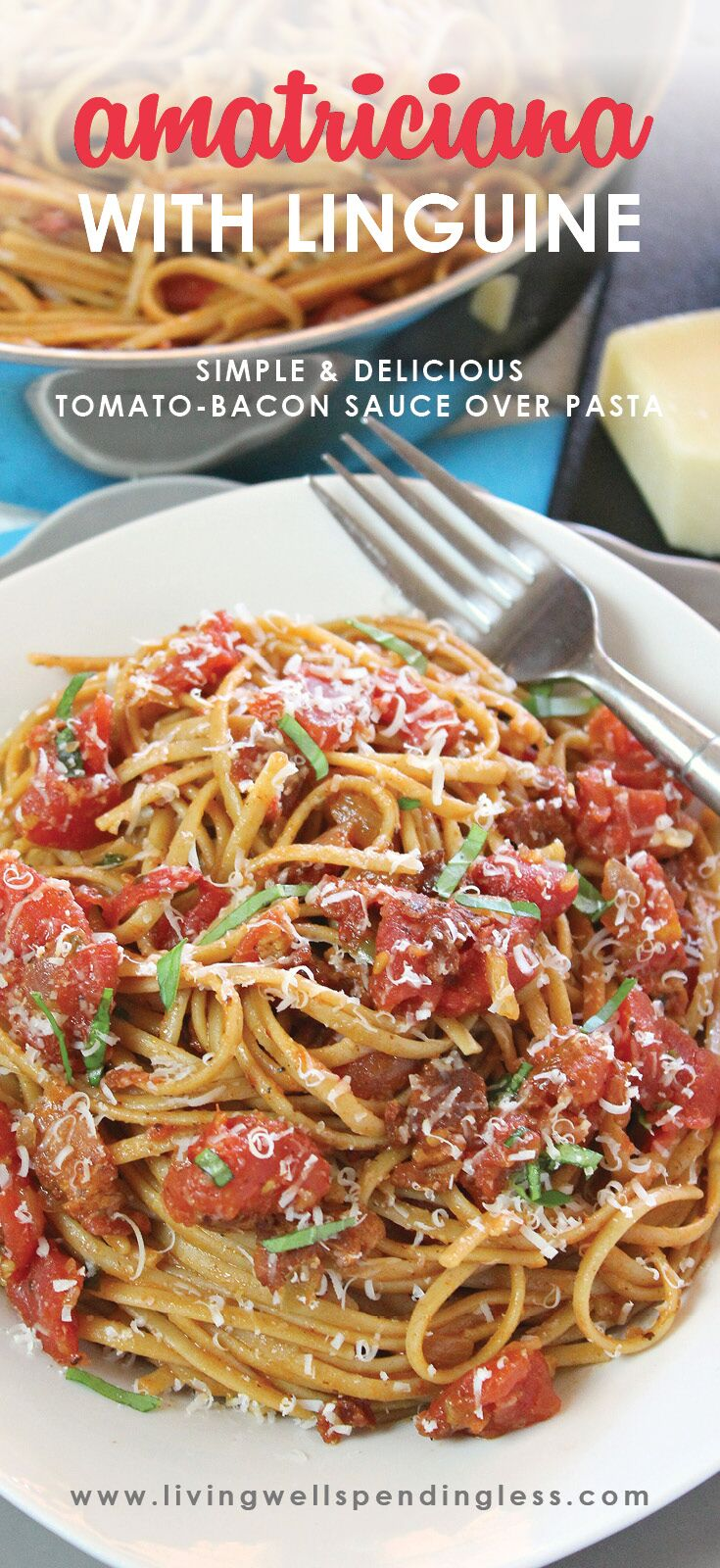 Amatriciana with Linguine   Simple Spaghetti Recipe   Easy Pasta Dishes   Food Made Simple   Simple Pasta Dinner