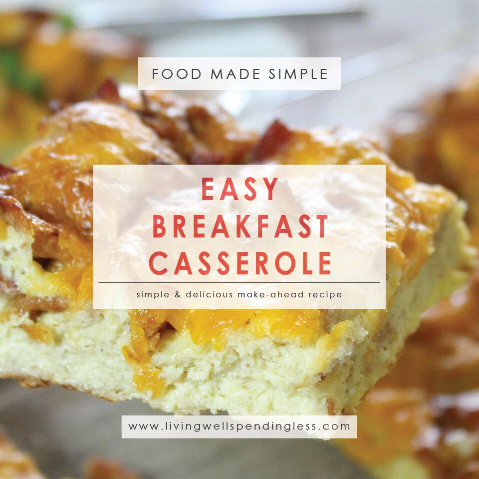 Easy Breakfast Casserole Recipe | Make-Ahead Brunch Recipe