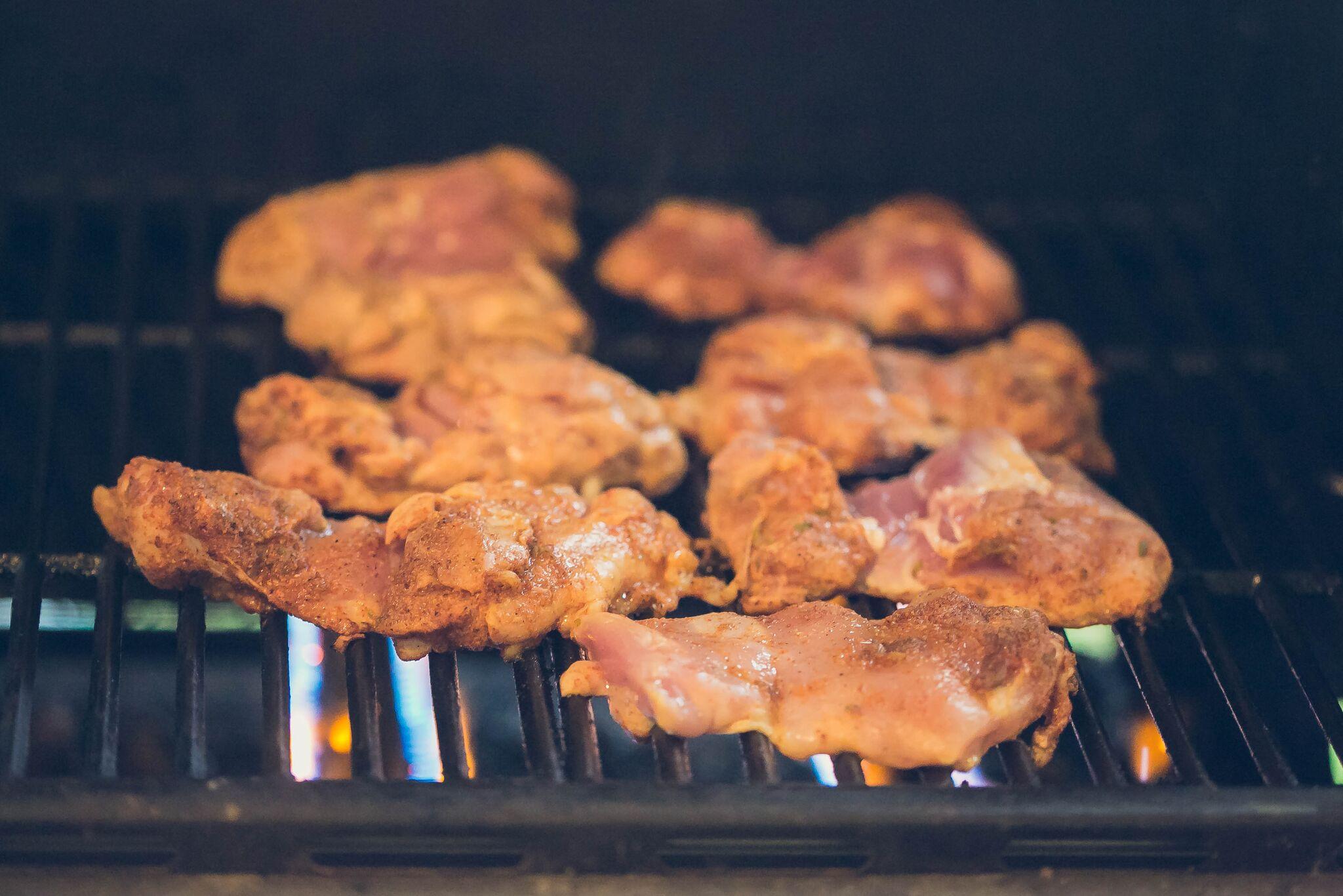 Grill chicken on medium heat.