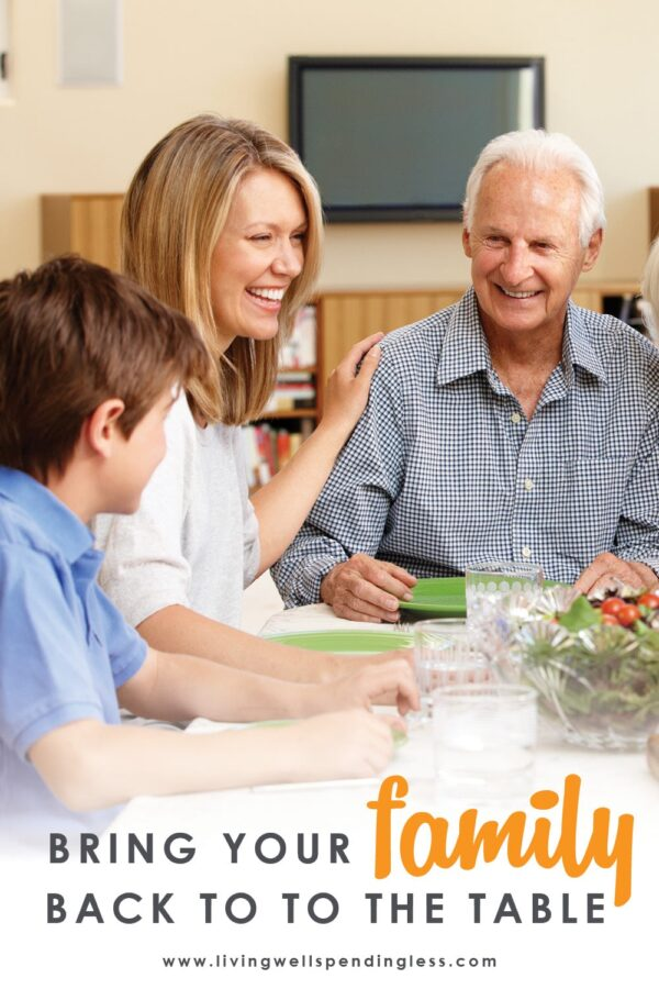 Have family meals fallen by the wayside in the midst of your busy life? Sitting down to eat together might feel impossible when things get hectic, but research says that family dinner is one of the most beneficial things you can do! If you've been struggling to make it happen, use these simple BUT PROFOUND ideas to bring your family back to the table. #familymeals #eatingtogether #familybonding #relationships #familydinner #eatingtogether