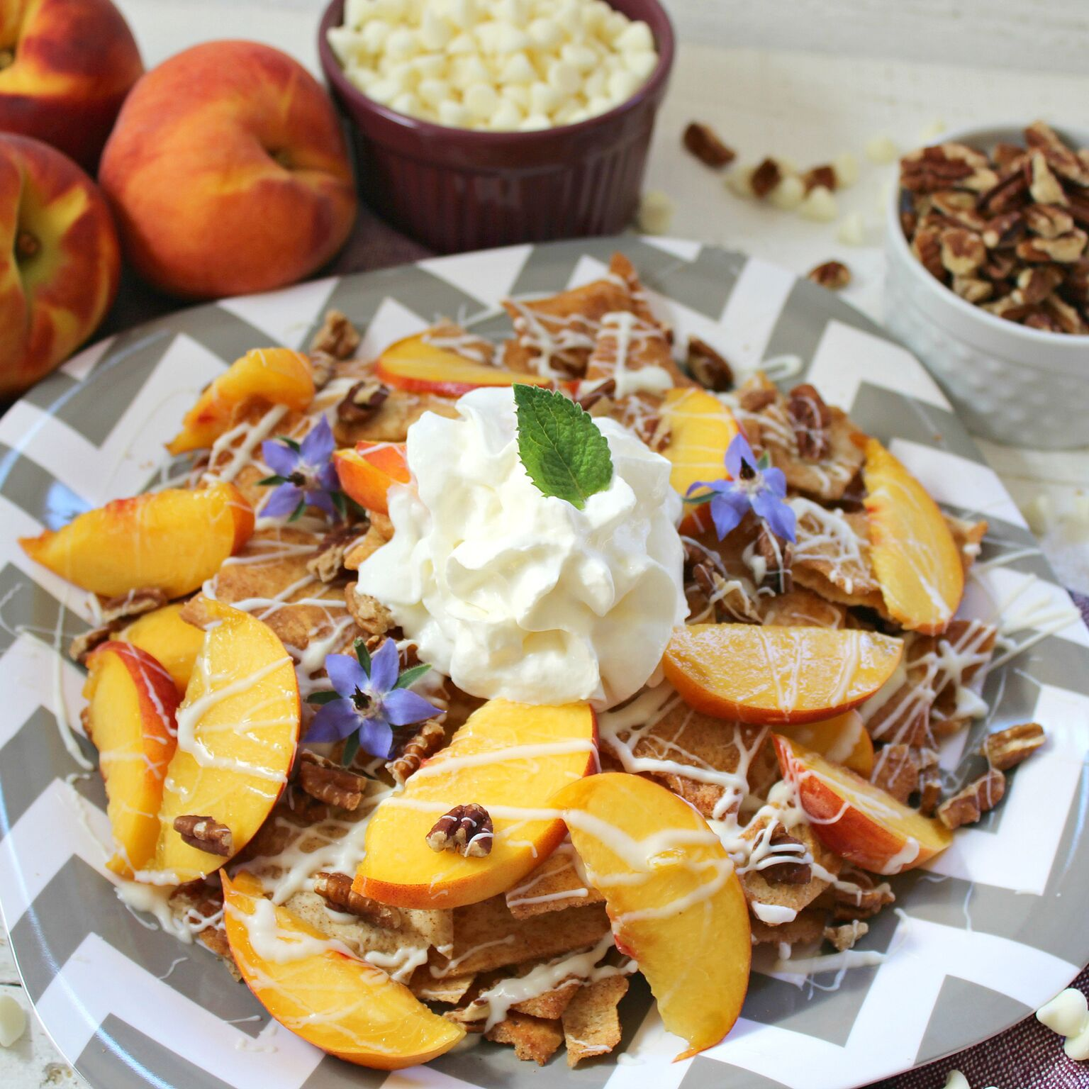 Want an easy dessert for your family? Each ingredient in these Fruity Dessert Nachos can easily be bought at the store and quickly turned into a fabulous dessert. No mixing, no baking, and not a lot of cleanup.