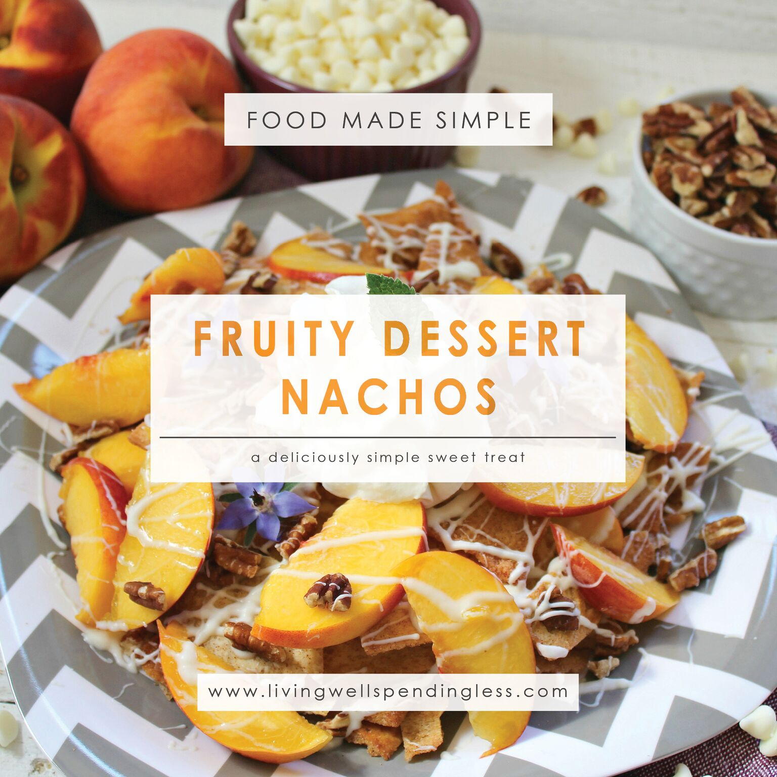 Peaches Cream Dessert Nachos