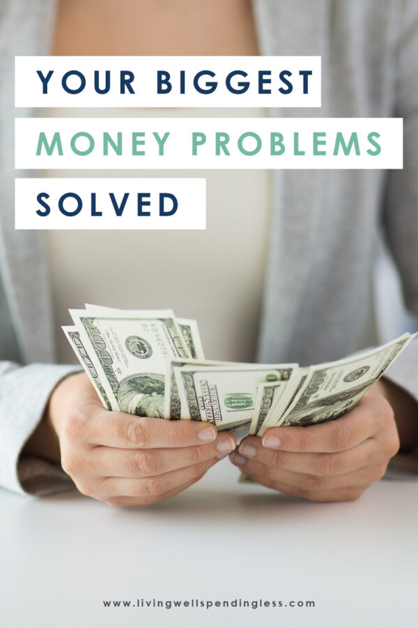 Do money problems keep you up at night? You're not alone! Here are the 10 biggest questions our readers have about money....and our answers to help you stop worrying and start saving for a financially free future. #budgeting #moneyproblems #moneytips #financialtips #financialhelp #budgettips #savingmoney #moneysavingtips