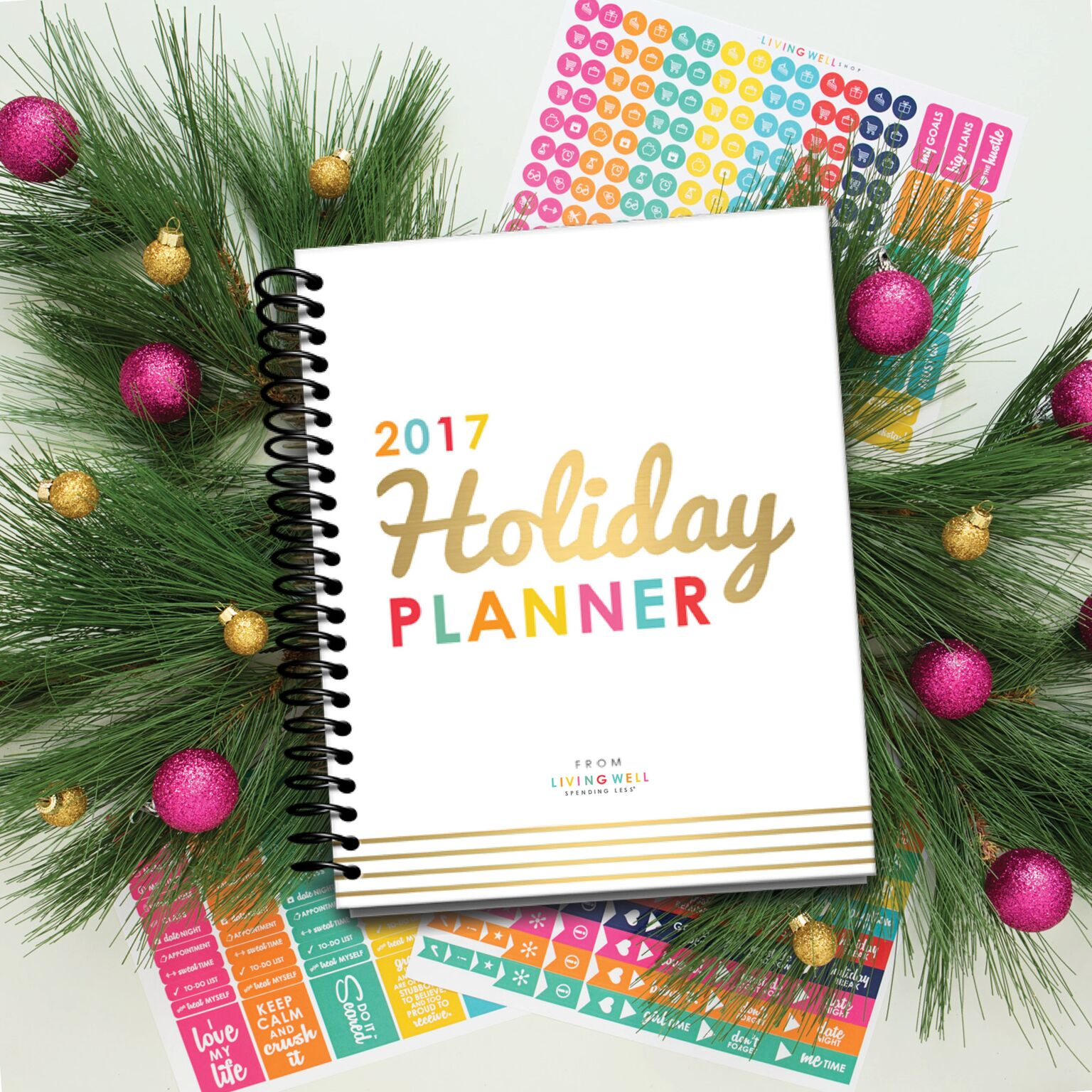 Use this colorful 2017 Holiday Planner to organize your holidays!
