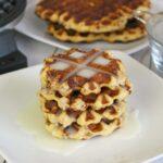 Cinnamon Roll Waffles with Creamy Maple Glaze | Easy Cinnamon Roll Waffles | Waffle Recipe | Breakfast Meal