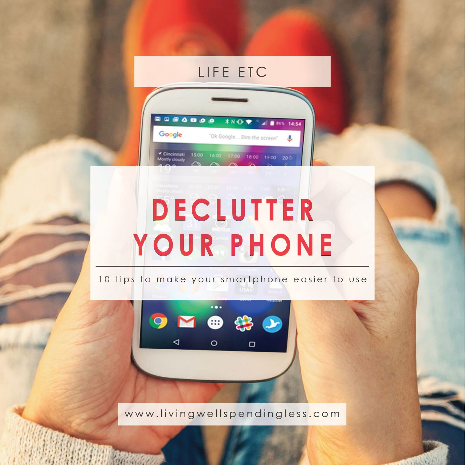 Smartphone | Apps | Organized | Declutter Your Life | Organization | Technology | Mindful Technology
