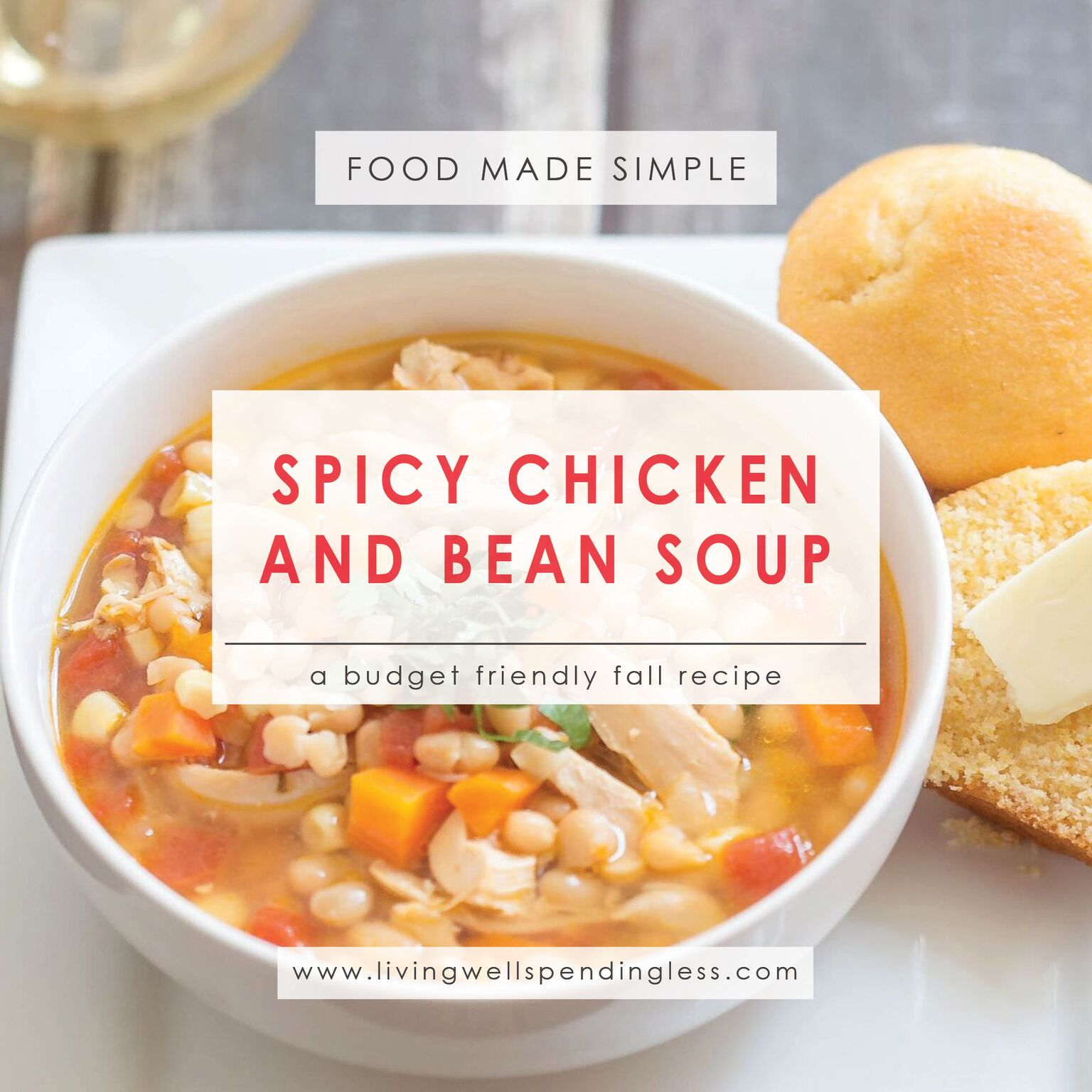 Spicy chicken and bean soup freezer friendly fall soup recipe spicy chicken and bean soup fall dinner recipes freezer cooking food made simple forumfinder Image collections