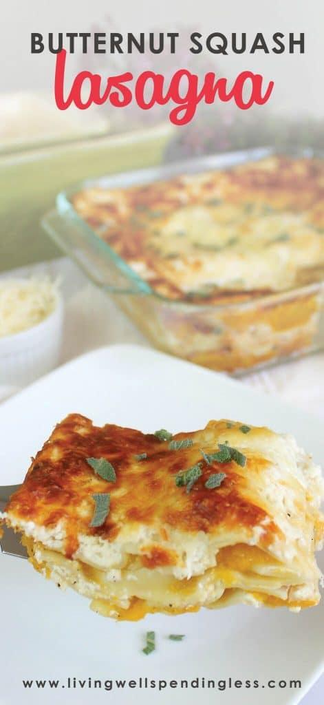 Butternut Squash Lasagna | Easy Dinner Recipe | Vegetarian Lasagna | Freezer Meals | Fall Dinner Recipe