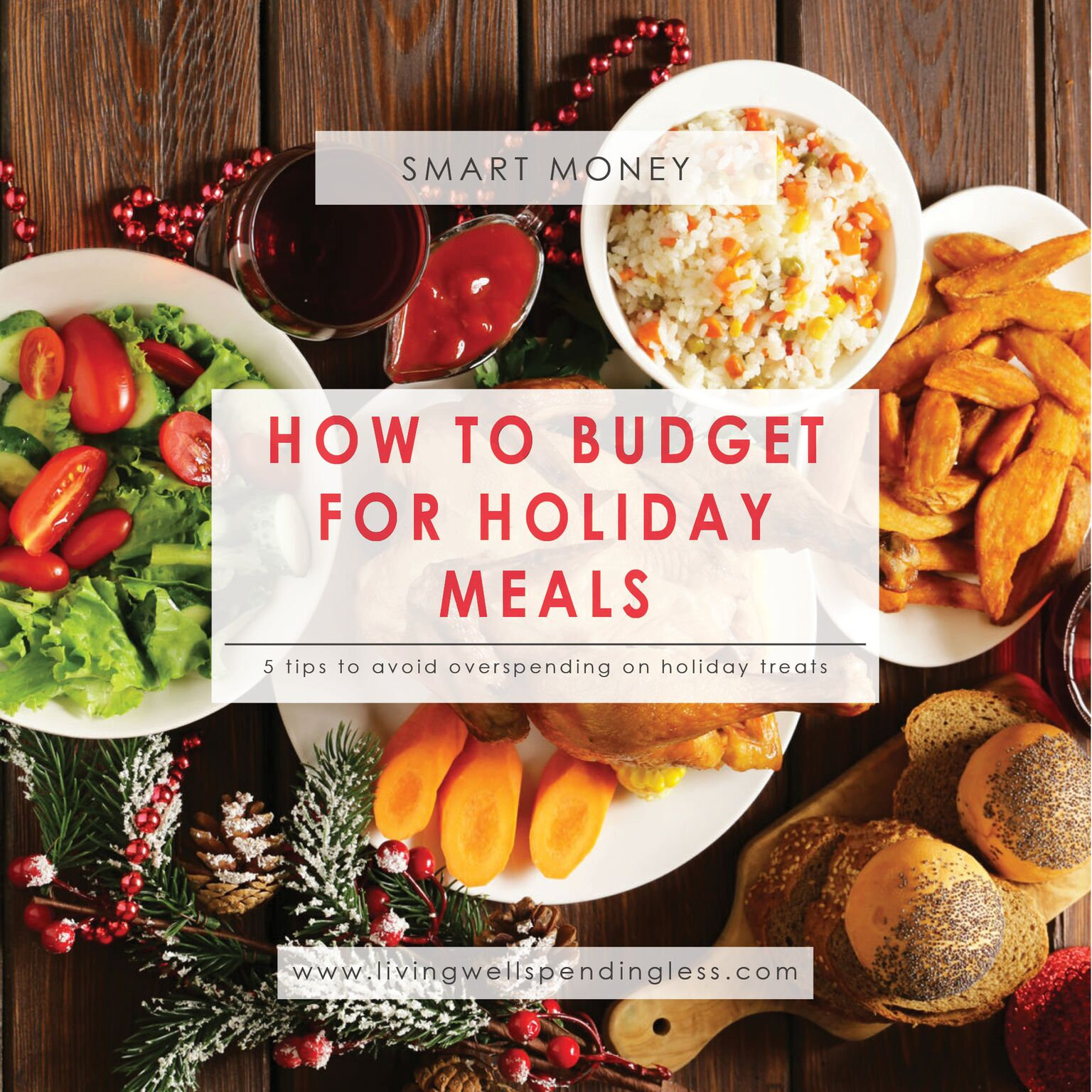 How to Budget for Holiday Meals⎢Avoid Overspending on Holiday Treats⎢Smart Money⎢Budget⎢Financial Freedom⎢Holiday Spending